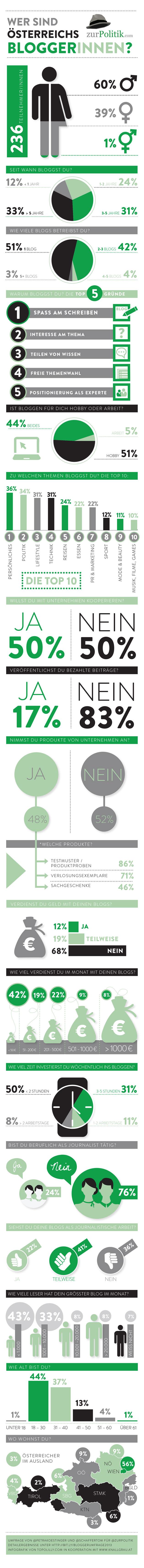 Infografik: Österreichs Blogger 2013