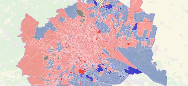 Wien-Wahl 2015: Gemeinderat, Sprengel