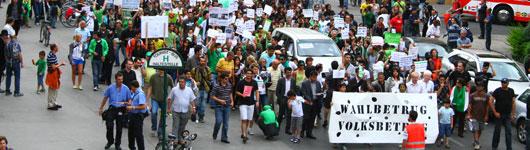 Proteste in Wien zu Iran-Wahlen