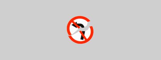 Kein Linksabbiege-Verbot!
