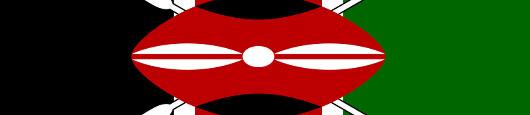 Ausschnitte der Flagge Kenias
