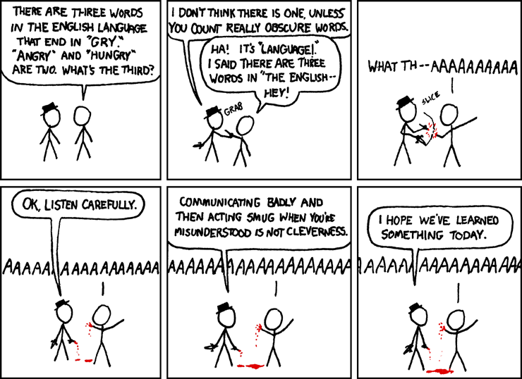 XKCD - Words that End in GRY
