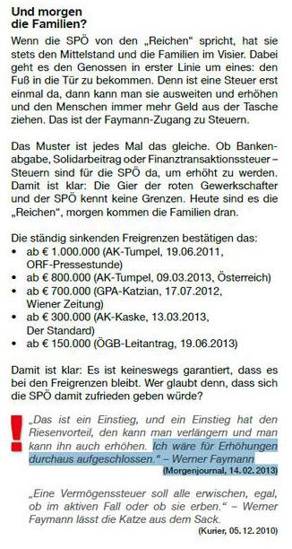 ÖVP Fibel entstellt Faymann-Zitat