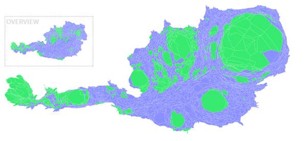 Bundespräsidentschaftswahl 2016: Karte nach Bevölkerungsgröße